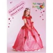 Costume Principessa Delle Rose tg. 9/10 anni