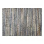 Alfombra con motivos gráficos azul, marrón y gris 160 x 230 cm EPIS - Miliboo