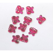 PKT OF 100 MINI HOT PINK DIAMANTIE DECORATIVE BUTTERFLY'S