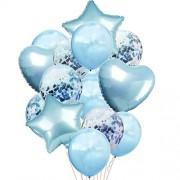 LDX 14pcs / Lot mezcló la Boda del cumpleaños del Globo de la Bola del Globo del Aire de Oro Rosa Conjunto Fiesta de cumpleaños del Confeti de la decoración de Ballon Globo de Bricolaje