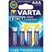 Baterii alcaline AAA/R3, 4 buc/blister, VARTA High Energy