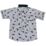 Krivi kids Green White Color Half Sleeve Cotton Shirt For Baby Boys.