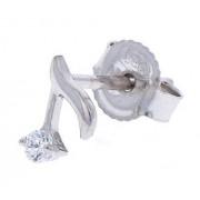 Rockys Stud Earrings Quaver Silver