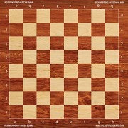 Mahogany Chess Board - Full Color Vinyl Chess Board by Wild Style Boards