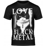t-shirt hardcore pour hommes - LOVE BLACK METAL - AMENOMEN - OMEN123KM