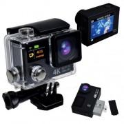 "Camera Sport Action EKEN H3+, Ultra HD 4K, 12MP, inregistrare 4K@25fps, lentile F2.0 170gr, display 2"" LCD + display 0.95"" OLED, Wi-Fi, waterproof 30m, negru"
