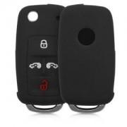 kwmobile Silikon etui dla kluczyk samochodowy dla VW Seat VW Seat - czarny