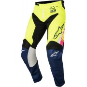 Alpinestars Pantaloni Moto Cross 2018 Racer Supermatic White Dark Blue Yellow Fluo Cod. 3721518