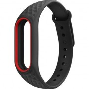 Curea TECH-PROTECT, Smooth Xiaomi Mi Band 2, Negru/Rosu