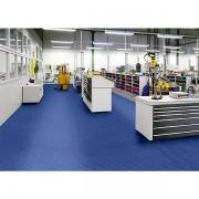 Certeo PVC-Bodenplatte, VE 8 Stk - mit genoppter Oberfläche - blau