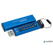 """Pendrive, 16GB, USB 3.0, Keypad, KINGSTON """"DT2000"""", kék"""