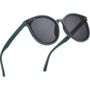 ROYAL SON Over-sized Sunglasses(Black, Green)