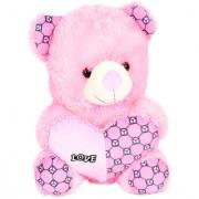 GoodEase Spongy Soft Cute Cap Teddy Bear - 23 cm (Baby Pink ).LOVE TEDDY BEAR (BIG)