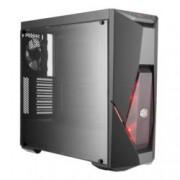 Кутия Cooler Master MasterBox K500L, ATX, Micro-ATX, Mini-ITX, 2x USB 3.0, страничен прозорец от закалено стъкло, подсветка, черна, без захранване
