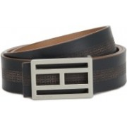 Tommy Hilfiger Men Casual Tan, Blue Genuine Leather Reversible Belt