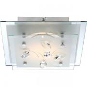 Plafonier elegant dim.24x24cm, cristale K5, LED Eline 40418 GL