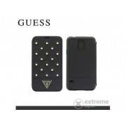 Toc telefon piele Guess Tessi Samsung SM-G900 Galaxy S V., negru (GUFLBKS5STB)