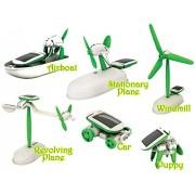 Pepperonz 6 in 1 Solar Educational Kit Toy Boat Fan Car Robot Power Moving Dog