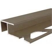 Profil de scara aluminiu maro 10x12 mm 250 cm