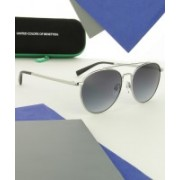 United Colors of Benetton Aviator Sunglasses(Blue)