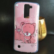 Husa LG K8 Silicon TPU Gel Model GLY Love Pink Bear