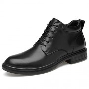 XIANGBAO-Personality -Personalidad Botas de Moda para Hombre Zapatos de Abrigo Personalidad de Invierno Casual Vellón de Invierno Dentro de Top Alto con Cordones Botas de Gran tamaño (Convencional Opcional)