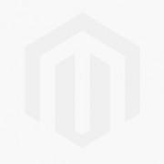 Vitrinekast Volda 196 cm hoog - Mat wit met Sanremo eiken