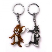 Ezzideals Tom and Jerry PVC Rubber design Keychain combo