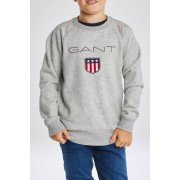 Gant Mikina Gant Shield Logo Sweat C-Neck šedá 158/164