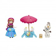 Disney Frozen - Set tematic cu mini papusi Anna si Olaf
