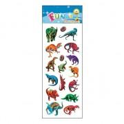 Geen Stickervel dinosaurus gekleurd