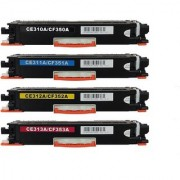 126A/CE-310A/311A/312A/313A complete set(black/cyan/yellow/magenta) compatible toner cartridge for HP Laserjet Pro Color