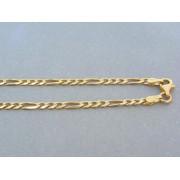 Zlatá retiazka žlté zlato vzor figaro DR55842Z
