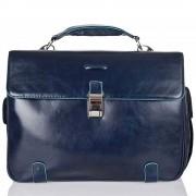 Piquadro Cartella Borsa Porta Pc e iPad - CA1066B2 Blue Square Blu