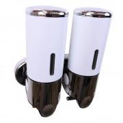 Zeepdispenser Wit met 2 reservoirs van elk 400 ml