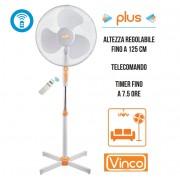 Ventilatore a piantana diam. 40cm con telecomando Vinco - Summertime 70704