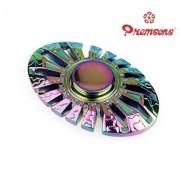 Premsons Fidget Spinner Metal Oval Wheel Gear Hand Spinner - Metallic Rainbow