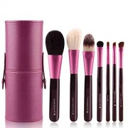 MDYHHX Makeup Brushes Set de pinceles de maquillaje 7 piezas de base plana Blush Eyeliner Brushes Eyeshadow Brush Brush Color Graduado Maquillaje Cepillo MDYHHX (Color : Púrpura, Size : Gratis)