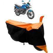 Intenzo Premium Orange and Black Two Wheeler Cover for Honda Livo