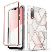 Carcasa stylish Supcase Cosmo Samsung Galaxy A50/A50s/A30s cu protectie display, Marble