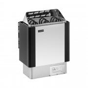 Poêle pour sauna - 4,5 kW - 30 à 110 °C - Enveloppe en inox