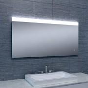 Badkamerspiegel Single 120x60cm Geintegreerde LED Verlichting Verwarming Anti Condens Touch Lichtschakelaar Dimbaar