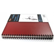 Art Show - Custom - Premium 9x12 inches Spiral Sketchbook - Genuine Ultra Rigid Hardbound Cover Provides All The Firm Support You'll Ever Need When There Is No Drawing Desk