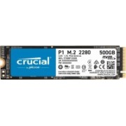 Crucial P1 500 GB Laptop, Desktop Internal Solid State Drive (CT500P1SSD8 3D NAND PCIe NVMe)