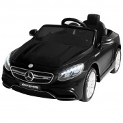 vidaXL Акумулаторна кола Mercedes Benz AMG S63, черна, 12V