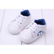 Pantofi sport albi baietei 6-12 luni