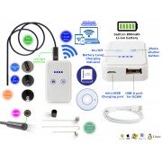 NTR ECAM18WIFI Vízálló endoszkóp kamera 1280x720 HD 2MP 9mm átmérő 6LED 30m WiFi + 5m kábel