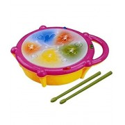 Musical Flash Drum with Sticks New Arrival Best Selling Premium Quality Lowest Price Multicolour, Bright, Interactive Drum for Your Little Musician, Engages Child With Lights & Sound, Helps Your Little One in Developing Visual Stimulation, Audio Stimulati