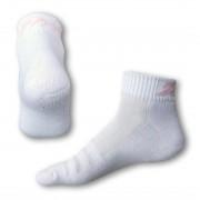 Styx Ponožky Styx fit bílé s růžovým nápisem (H232) M