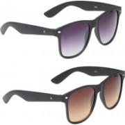 Vast Wayfarer, Rectangular Sunglasses(Violet, Brown)